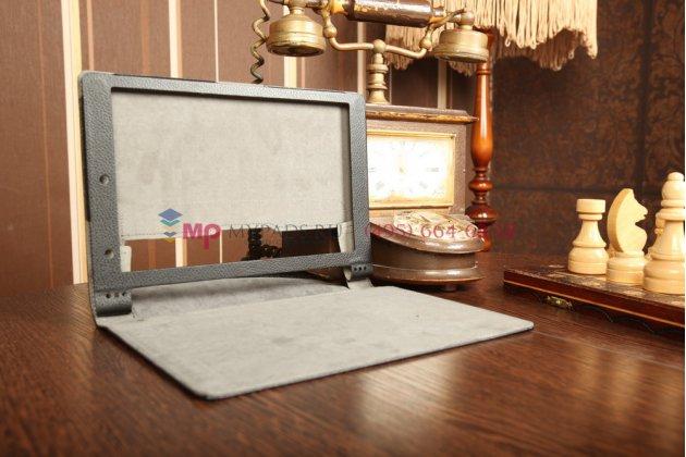 Чехол закрытого типа с отделением под аккумулятор для Lenovo Yoga Tablet 10 B8000 черный кожаный
