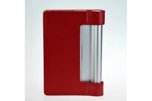 Чехол открытого типа с отделением под аккумулятор для Lenovo Yoga Tablet 10 B8000 красный кожаный