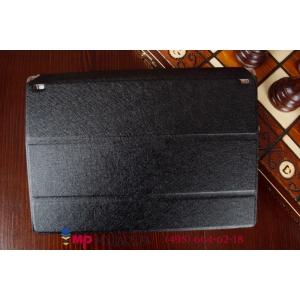 Ультратонкий фирменный чехол обложка для Lenovo Yoga Tablet 2 10.1 (1050L/1051L) черный пластиковый