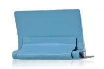Чехол закрытого типа с отделением под аккумулятор для Lenovo Yoga Tablet 2 10.1 4G (1050L/1051L) / Yoga Tablet 2 10.1 with windows голубой кожаный