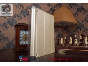 Ультратонкий фирменный чехол-футляр-книжка для Lenovo Yoga Tablet 2 10.1 4G (1050L/1051L) золотой пластиковый..
