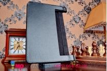 Фирменный чехол подставка для Lenovo Yoga Tablet 2 10.1 (1050L/1051L) черный кожаный