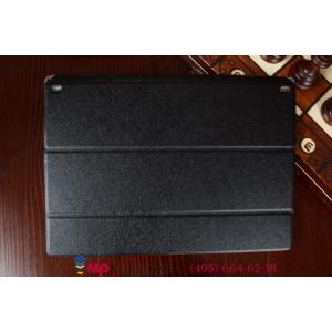 Ультратонкий фирменный чехол обложка для Lenovo Yoga Tablet 2 8.0 (830L) черный пластиковый