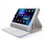 Фирменный чехол бизнес класса для Lenovo Yoga Tablet 2 8.0 4G (830L) с визитницей и держателем для руки белый ..
