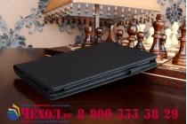 """Фирменный чехол бизнес класса для Lenovo Yoga Tablet 2 8.0 4G (830L) с визитницей и держателем для руки черный """"Prestige"""" Италия"""