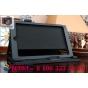 Фирменный чехол бизнес класса для Lenovo Yoga Tablet 2 8.0 4G (830L) с визитницей и держателем для руки черный..