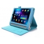 Фирменный чехол бизнес класса для Lenovo Yoga Tablet 2 8.0 4G (830L) с визитницей и держателем для руки голубо..