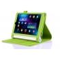 Фирменный чехол бизнес класса для Lenovo Yoga Tablet 2 8.0 4G (830L) с визитницей и держателем для руки зелёны..