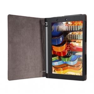 """Фирменный чехол закрытого типа с отделением под аккумулятор для Lenovo Yoga Tablet 10 3 16Gb 4G (YT3-X50M/X50L/ZA0K0006RU) 10.1"""" черный кожаный"""