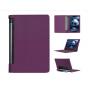 Фирменный чехол подставка для Lenovo Yoga Tablet 10 3 16Gb 4G (YT3-X50M/X50L/ZA0K0006RU) 10.1 фиолетовый кожан..