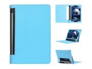 Фирменный чехол подставка для Lenovo Yoga Tablet 10 3 16Gb 4G (YT3-X50M/X50L/ZA0K0006RU) 10.1 голубой кожаный..
