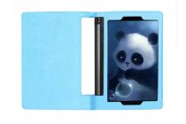 Фирменный чехол подставка для Lenovo Yoga Tablet 10 3 16Gb 4G (YT3-X50M/X50L/ZA0K0006RU) 10.1 голубой кожаный