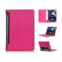 Фирменный чехол подставка для Lenovo Yoga Tablet 10 3 16Gb 4G (YT3-X50M/X50L/ZA0K0006RU) 10.1 розовый кожаный..