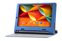 """Фирменный чехол с красивым узором для планшета Lenovo Yoga Tablet 10 3 16Gb 4G (YT3-X50M/X50L/ZA0K0006RU) 10.1"""" синий натуральная кожа Италия"""