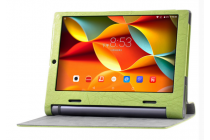 """Фирменный чехол с красивым узором для планшета Lenovo Yoga Tablet 10 3 16Gb 4G (YT3-X50M/X50L/ZA0K0006RU) 10.1"""" зеленый натуральная кожа Италия"""