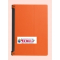 Фирменный тонкий чехол для Lenovo Yoga Tablet 10 3 16Gb 4G (YT3-X50M/X50L/ZA0K0006RU) 10.1 оранжевый на пласти..