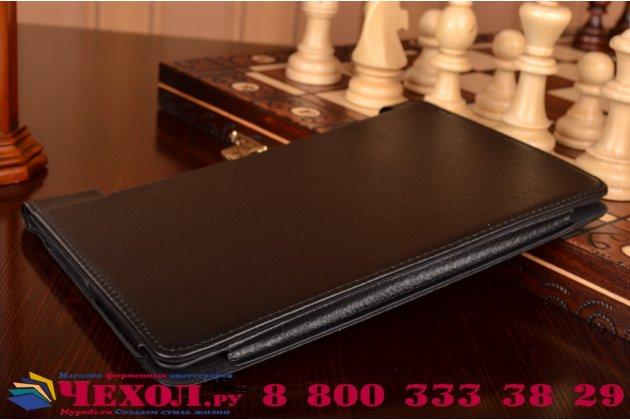 """Фирменный чехол подставка для Lenovo Yoga Tablet 3 8.0"""" (YT3-850F/ 850F) черный кожаный"""