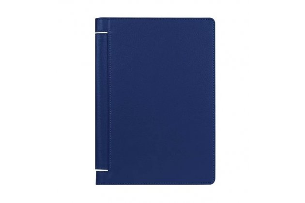 """Чехол закрытого типа с отделением под аккумулятор для Lenovo Yoga Tablet 3 8.0"""" (YT3-850F/ 850F) синий кожаный"""