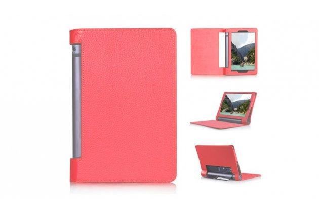 """Фирменный чехол подставка для Lenovo Yoga Tablet 3 8.0"""" (YT3-850F/ 850F) красный кожаный"""