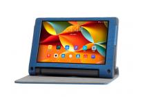 """Фирменный чехол с красивым узором для планшета Lenovo Yoga Tablet 8 3 16Gb 4G LTE (850M / YT3-850)"""" синий натуральная кожа Италия"""