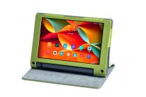 """Фирменный чехол с красивым узором для планшета Lenovo Yoga Tablet 8 3 16Gb 4G LTE (850M / YT3-850)"""" зеленый натуральная кожа Италия"""
