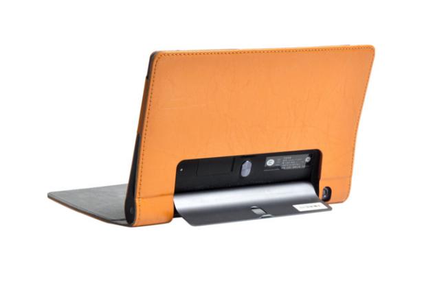 """Фирменный чехол с красивым узором для планшета Lenovo Yoga Tablet 8 3 16Gb 4G LTE (850M / YT3-850)"""" оранжевый натуральная кожа Италия"""