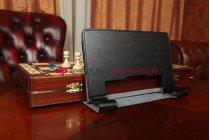 Фирменный чехол-обложка-книжка для Lenovo Yoga Tablet 8 B6000 черный кожаный