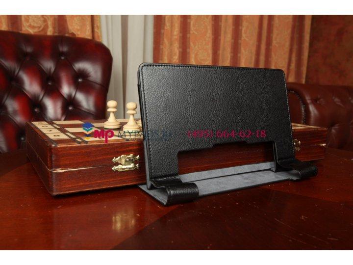 Фирменный чехол-обложка-книжка для Lenovo Yoga Tablet 8 B6000 черный кожаный..