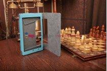 Фирменный чехол-обложка-книжка для Lenovo Yoga Tablet 8 B6000 голубой кожаный
