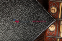 Чехол-обложка для Lenovo A1000 черный кожаный