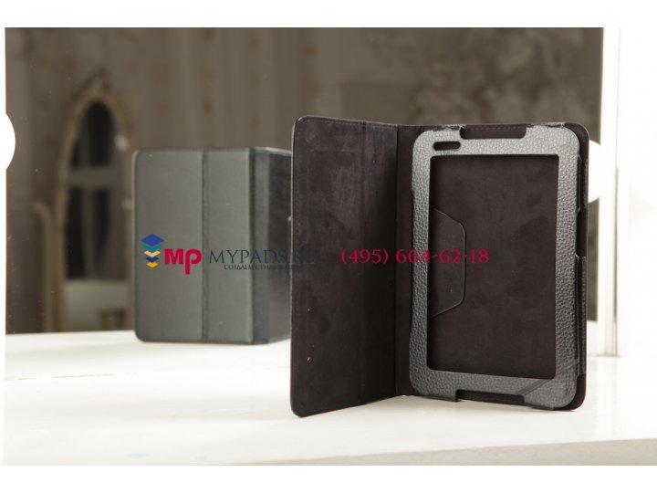 Чехол-обложка для Lenovo A1000 черный кожаный..