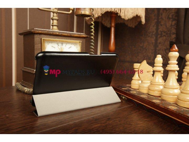 Фирменный чехол-обложка для Lenovo Ideatab A1000 SLIM черный..
