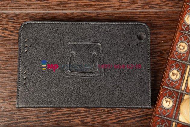 Чехол-обложка для Lenovo A3000 черный кожаный
