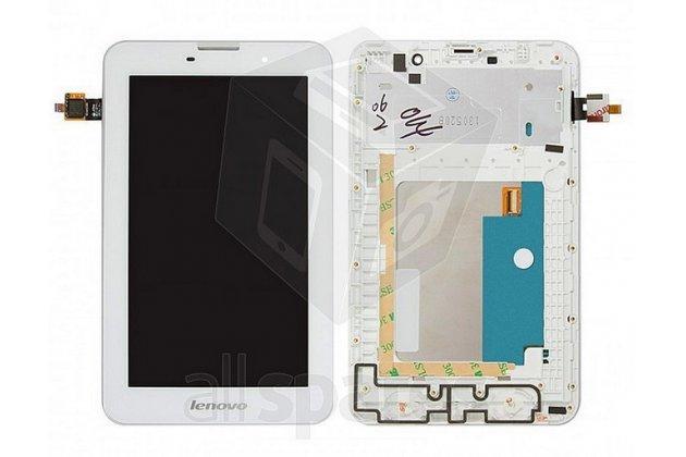 Фирменный LCD-ЖК-сенсорный дисплей-экран-стекло с тачскрином на планшет Lenovo Ideatab A3000/A3000-h белый и инструменты для вскрытия + гарантия