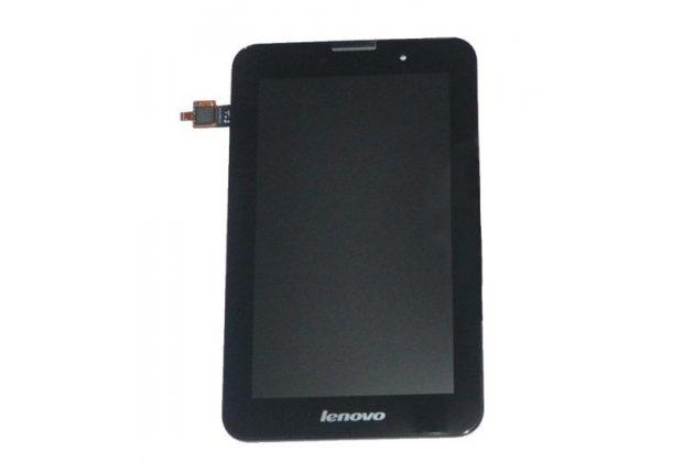 Фирменный LCD-ЖК-сенсорный дисплей-экран-стекло с тачскрином на планшет Lenovo Ideatab A3000/A3000-h черный и инструменты для вскрытия + гарантия