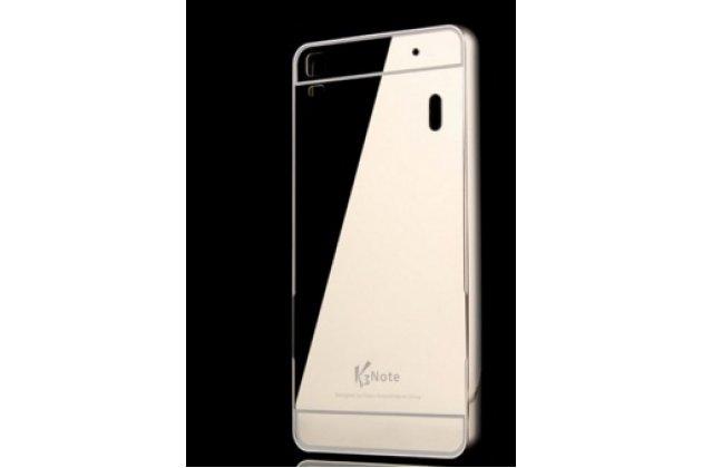 """Фирменная металлическая задняя панель-крышка-накладка из тончайшего облегченного авиационного алюминия для  Lenovo K3 Note / A7000 5.5"""" черная"""