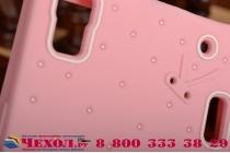 """Фирменная необычная уникальная полимерная мягкая задняя панель-чехол-накладка для Lenovo K3 Note/A7000 """"тематика Андроид в клубничном шоколаде"""""""