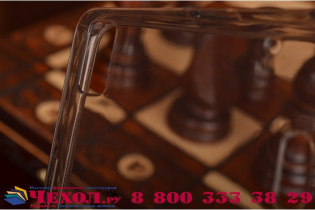Фирменная ультра-тонкая полимерная из мягкого качественного силикона задняя панель-чехол-накладка для Lenovo K3 Note/A7000 черная полупрозрачная