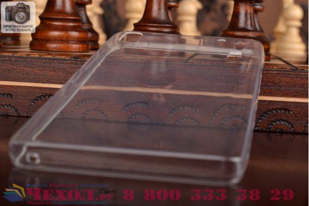 Фирменная ультра-тонкая полимерная из мягкого качественного силикона задняя панель-чехол-накладка для Lenovo K3 Note/A7000 белая