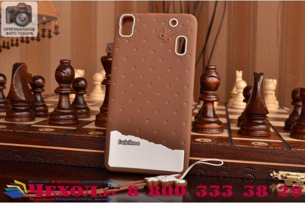 """Фирменная необычная уникальная полимерная мягкая задняя панель-чехол-накладка для Lenovo K3 Note/A7000 """"тематика Андроид в тёмном Шоколаде"""""""