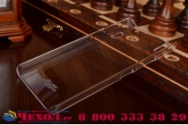 Фирменная задняя панель-крышка-накладка из тончайшего и прочного пластика для Lenovo K3 Note/A7000  прозрачная