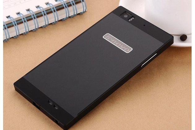 Фирменная металлическая задняя панель-крышка-накладка из тончайшего облегченного авиационного алюминия для Lenovo K900 черная