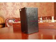 Чехол-книжка из качественной импортной кожи для Lenovo IdeaPhone K900 черный кожаный..