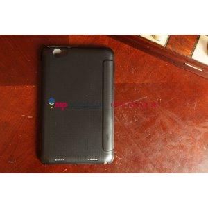 Фирменный чехол-обложка для Lenovo Ideatab A5000 SLIM черный пластиковый