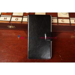 Чехол-книжка для Lenovo P780 черный кожаный