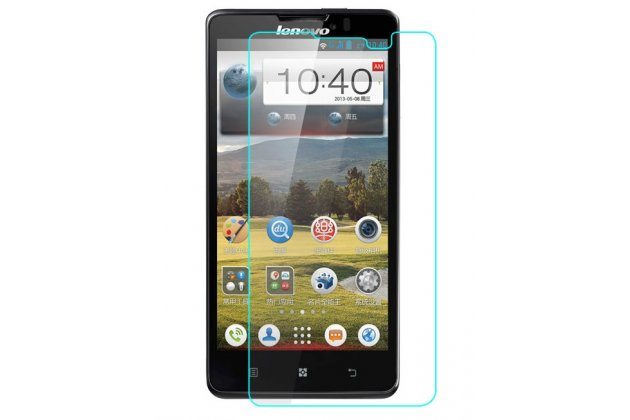Фирменная оригинальная защитная пленка для телефона Lenovo P780 глянцевая