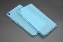 """Фирменная ультра-тонкая полимерная из мягкого качественного силикона задняя панель-чехол-накладка для Lenovo Phab PB1-750M / 750N /6.98""""/ 7.0"""" голубая"""