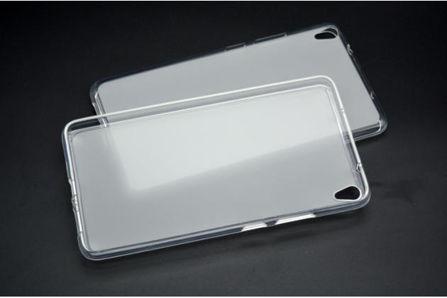 """Фирменная ультра-тонкая полимерная из мягкого качественного силикона задняя панель-чехол-накладка для Lenovo Phab PB1-750M / 750N /6.98""""/ 7.0"""" белая"""