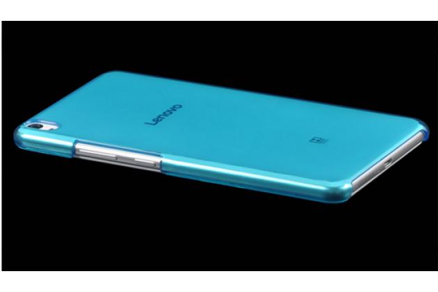 """Фирменная задняя панель-крышка-накладка из тончайшего и прочного пластика для Lenovo Phab PB1-750M / 750N /6.98""""/ 7.0"""" голубая"""