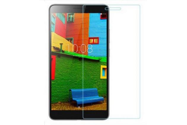 """Фирменное защитное закалённое противоударное стекло премиум-класса из качественного японского материала с олеофобным покрытием для планшета Lenovo Phab PB1-750M / 750N /6.98""""/ 7.0"""